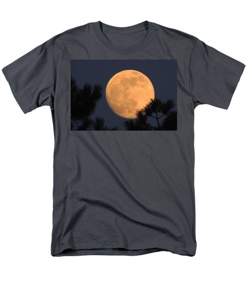 Men's T-Shirt  (Regular Fit) featuring the photograph Moon Pines by Charlotte Schafer