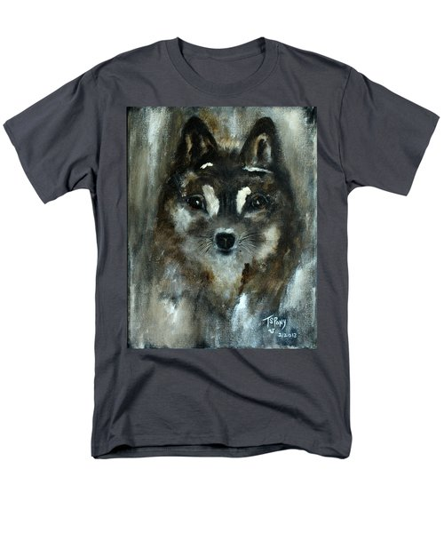 Men's T-Shirt  (Regular Fit) featuring the painting Moon Shadow The Baby Fox by Barbie Batson