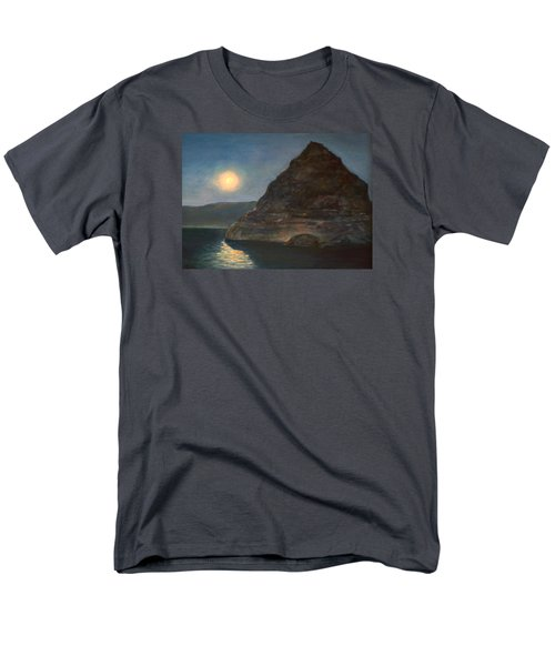 Men's T-Shirt  (Regular Fit) featuring the painting Moonlight On Pyramid Lake by Donna Tucker