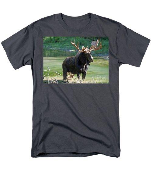 Moose Country Men's T-Shirt  (Regular Fit) by Bob Hislop