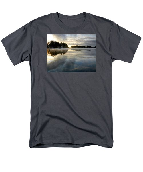 Men's T-Shirt  (Regular Fit) featuring the photograph Morning Lake Reflection by Peter Mooyman
