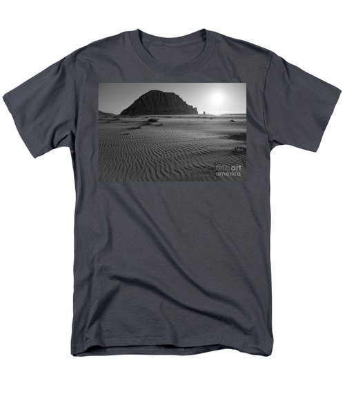 Morro Rock Silhouette Men's T-Shirt  (Regular Fit) by Terry Garvin