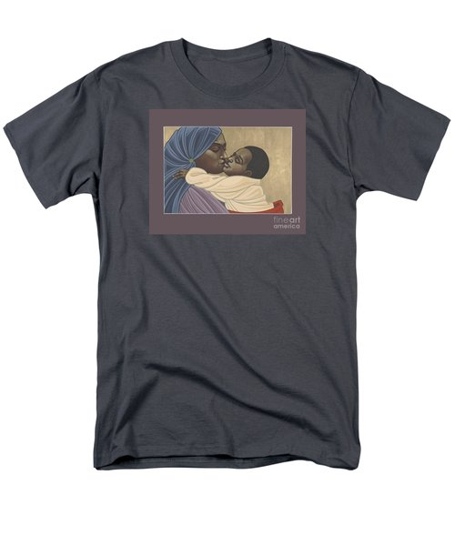 Men's T-Shirt  (Regular Fit) featuring the painting Mother And Child Of Kibeho 131 by William Hart McNichols