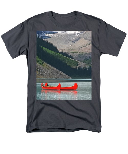 Mountain Canoes Men's T-Shirt  (Regular Fit) by Marcia Socolik