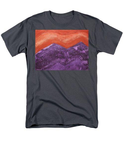 Mountain Majesty Original Painting Men's T-Shirt  (Regular Fit) by Sol Luckman