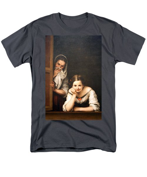 Murillo's Two Women At A Window Men's T-Shirt  (Regular Fit)