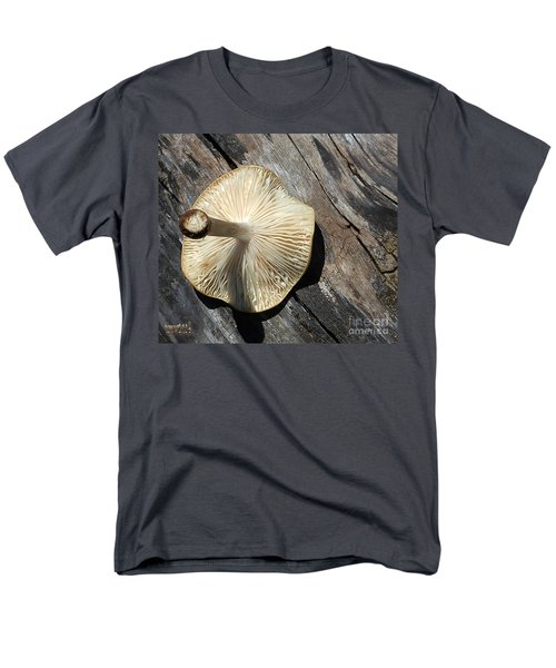 Men's T-Shirt  (Regular Fit) featuring the photograph Mushroom On Stump by Tina M Wenger