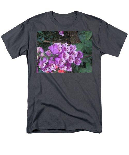 Natural Bouquet Bunch Of Spiritul Purple Flowers Men's T-Shirt  (Regular Fit) by Navin Joshi