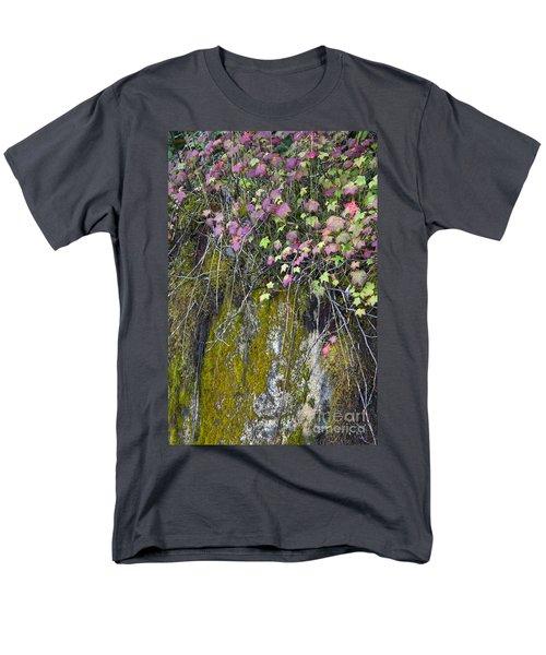 Neon Leaves No 2 Men's T-Shirt  (Regular Fit) by Alycia Christine
