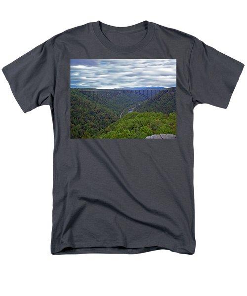 New River Bridge Men's T-Shirt  (Regular Fit) by Aimee L Maher Photography and Art Visit ALMGallerydotcom