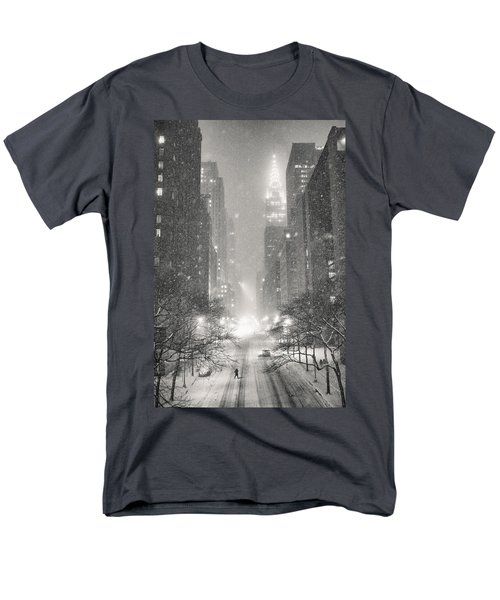 New York City - Winter Night Overlooking The Chrysler Building Men's T-Shirt  (Regular Fit) by Vivienne Gucwa