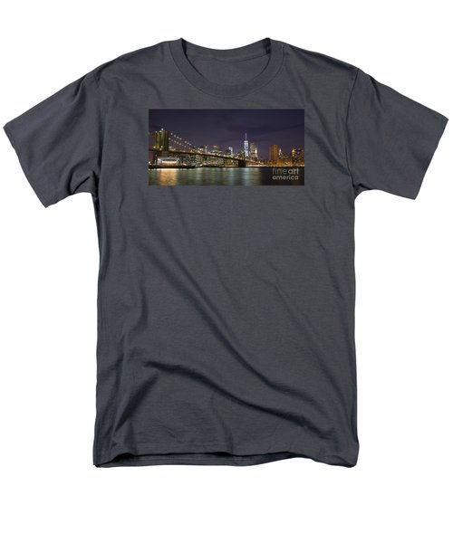 Men's T-Shirt  (Regular Fit) featuring the photograph New York Nights by Keith Kapple