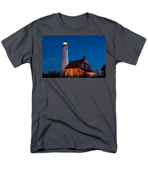 Night At The Lighthouse Men's T-Shirt  (Regular Fit) by Patrick Shupert