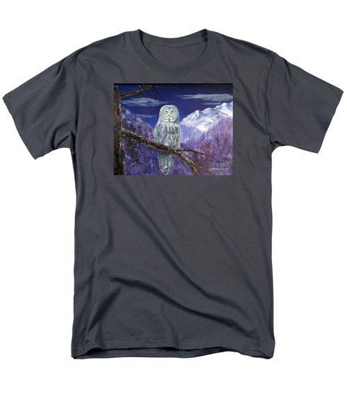 Men's T-Shirt  (Regular Fit) featuring the painting Night Hunter by Lee Piper