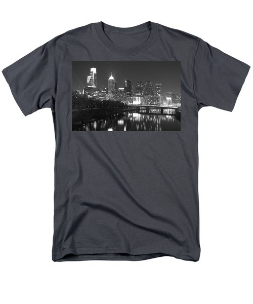 Men's T-Shirt  (Regular Fit) featuring the photograph Nighttime In Philadelphia by Alice Gipson