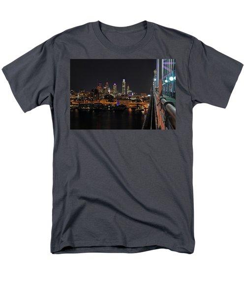 Nighttime Philly From The Ben Franklin Men's T-Shirt  (Regular Fit) by Jennifer Ancker