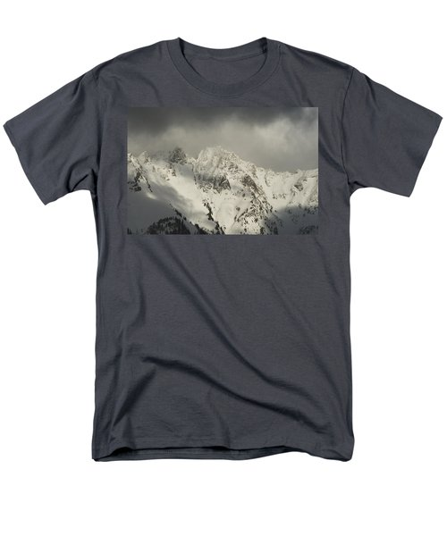 Men's T-Shirt  (Regular Fit) featuring the photograph North Cascades Mountains In Winter by Yulia Kazansky