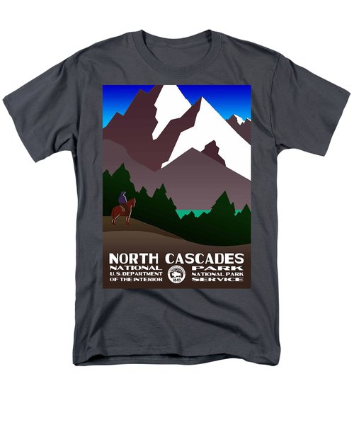 North Cascades National Park Vintage Poster Men's T-Shirt  (Regular Fit) by Eric Glaser
