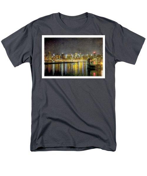 Nyc At Night Men's T-Shirt  (Regular Fit)