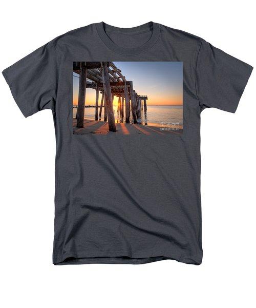 Ocean Grove Pier Sunrise Men's T-Shirt  (Regular Fit) by Michael Ver Sprill
