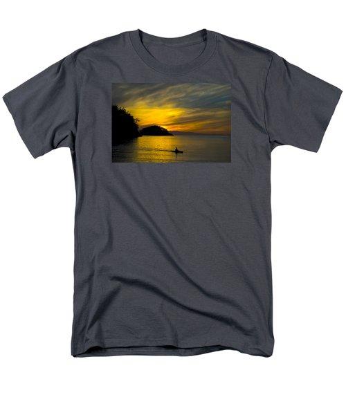 Men's T-Shirt  (Regular Fit) featuring the photograph Ocean Sunset At Rosario Strait by Yulia Kazansky