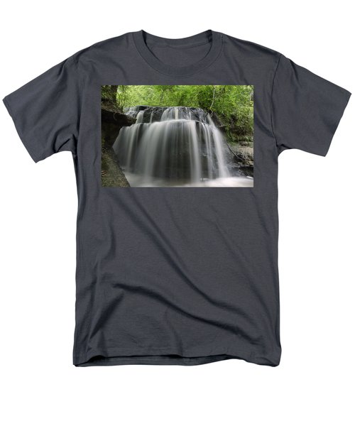 Odom Creek Waterfall Georgia Men's T-Shirt  (Regular Fit) by Charles Beeler