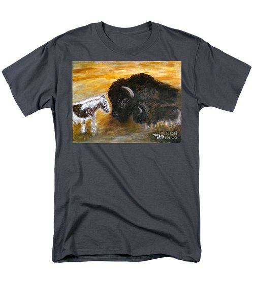 Men's T-Shirt  (Regular Fit) featuring the painting Of Proud Heritage by Barbie Batson