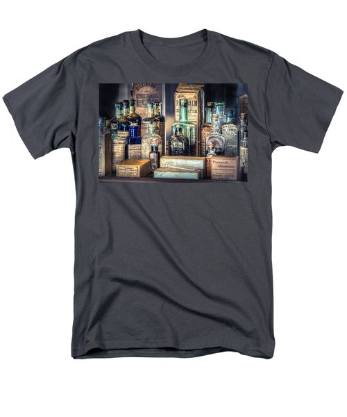 Ointments Tonics And Potions - A 19th Century Apothecary Men's T-Shirt  (Regular Fit) by Gary Heller