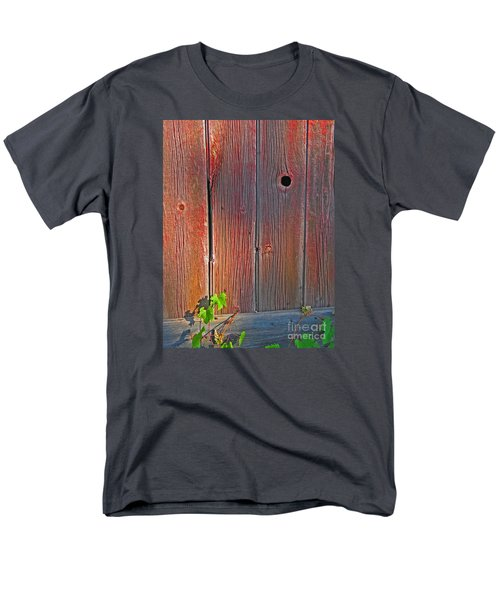 Men's T-Shirt  (Regular Fit) featuring the photograph Old Barn Wood by Ann Horn