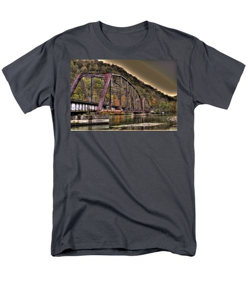 Men's T-Shirt  (Regular Fit) featuring the photograph Old Bridge Over Lake by Jonny D