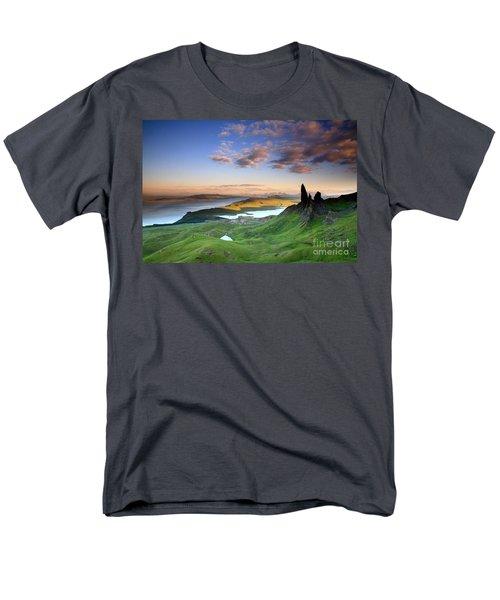 Men's T-Shirt  (Regular Fit) featuring the photograph  Scotland Old Man Of Storr Isle Of Skye by Mariusz Czajkowski