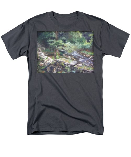 Men's T-Shirt  (Regular Fit) featuring the painting Old Mill Steam II by Lori Brackett