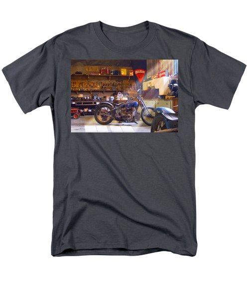 Old Motorcycle Shop 2 Men's T-Shirt  (Regular Fit) by Mike McGlothlen
