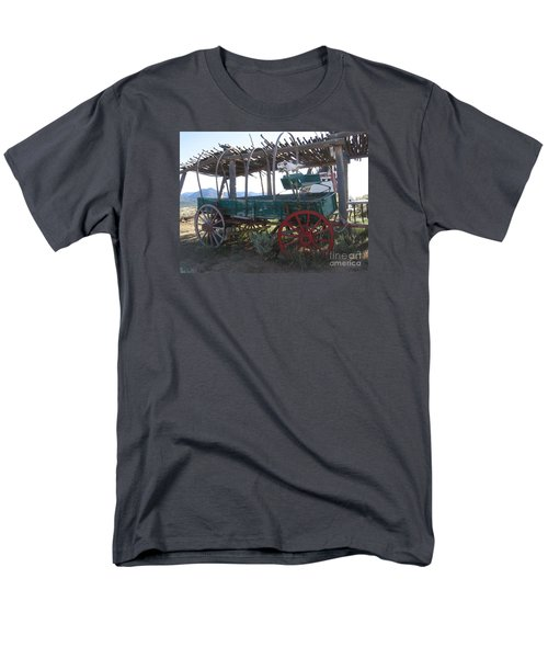 Men's T-Shirt  (Regular Fit) featuring the photograph Old Native American Wagon by Dora Sofia Caputo Photographic Art and Design