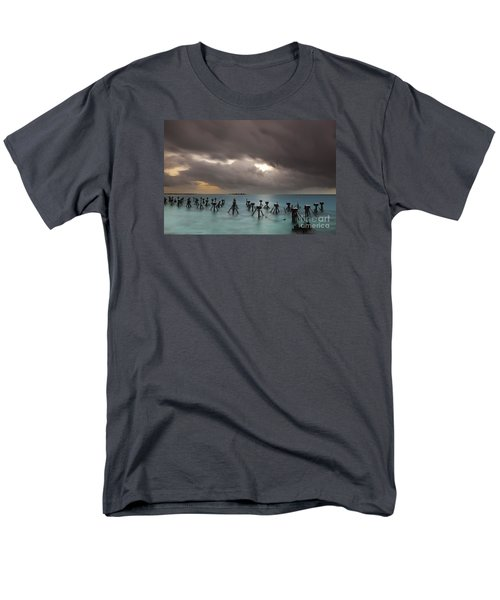 Old Pier In The Florida Keys Men's T-Shirt  (Regular Fit) by Keith Kapple