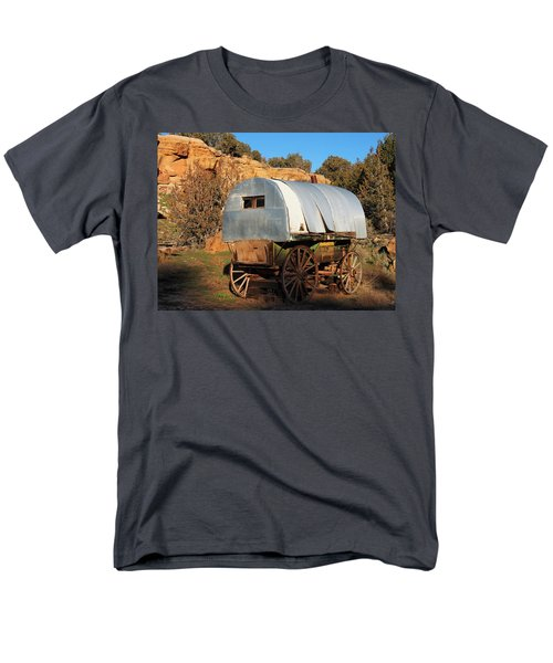 Old Sheepherder's Wagon Men's T-Shirt  (Regular Fit) by Nadja Rider