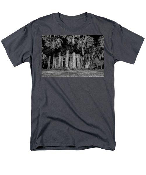 Old Sheldon Church At Night Men's T-Shirt  (Regular Fit) by Charles Hite
