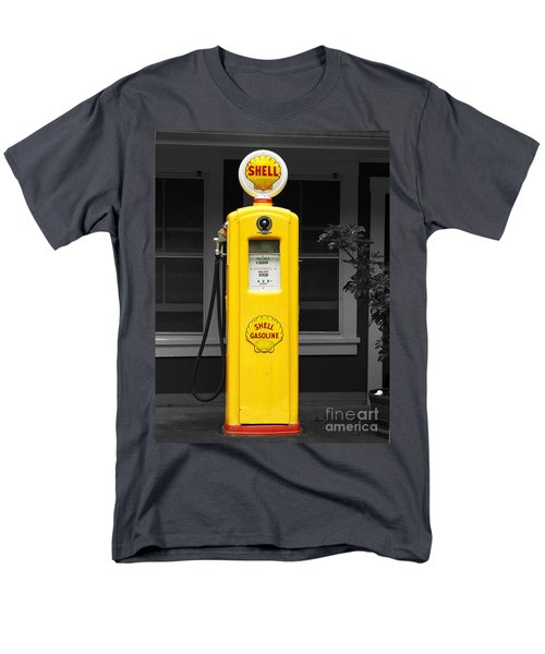 Men's T-Shirt  (Regular Fit) featuring the photograph Old Time Gas Pump by David Lawson