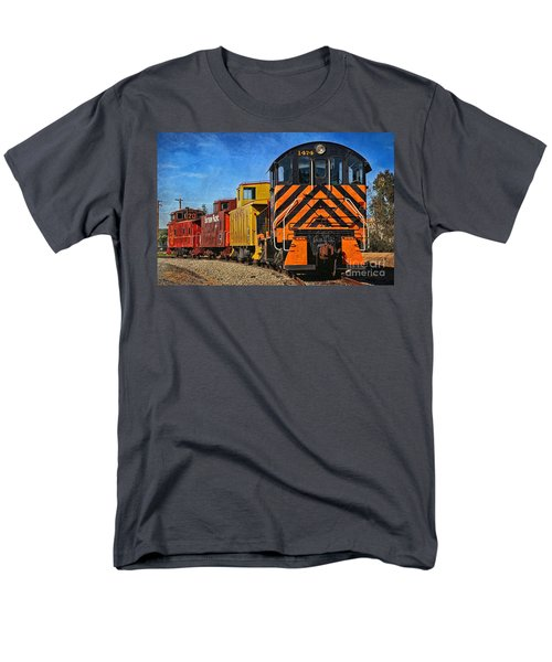 On The Tracks Men's T-Shirt  (Regular Fit) by Peggy Hughes