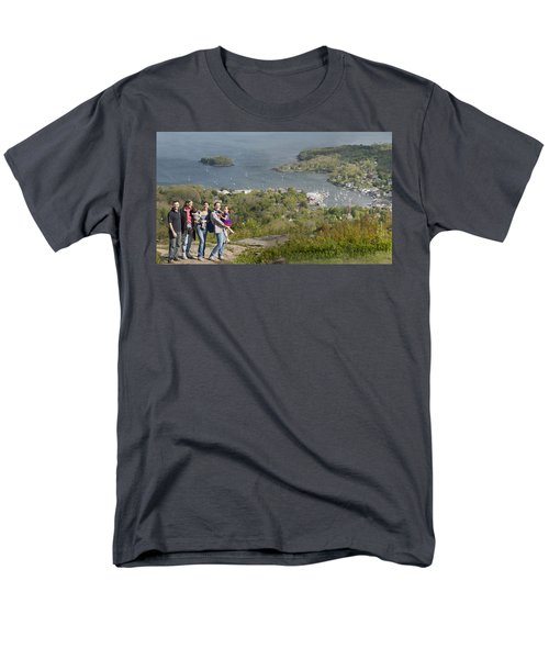 Men's T-Shirt  (Regular Fit) featuring the photograph On Top Of Mount Battie by Daniel Hebard