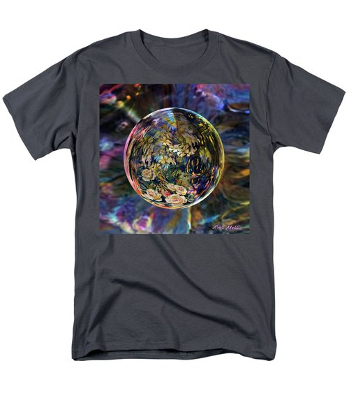 Orb Of Roses Past Men's T-Shirt  (Regular Fit) by Robin Moline