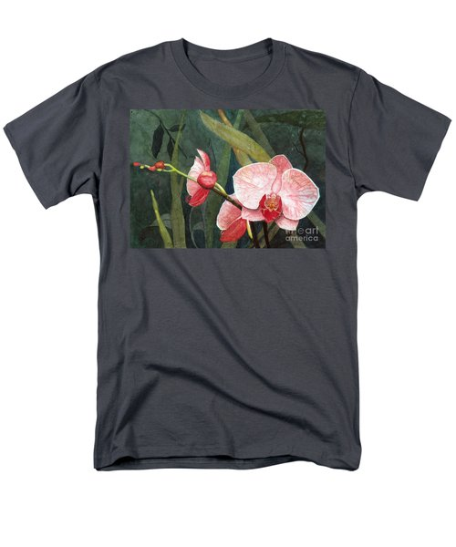 Men's T-Shirt  (Regular Fit) featuring the painting Orchid Trio 2 by Barbara Jewell