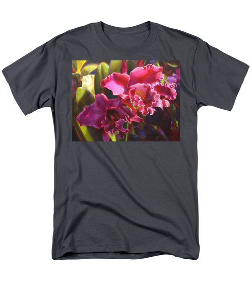 Orchids In Magenta Men's T-Shirt  (Regular Fit) by Karen Whitworth