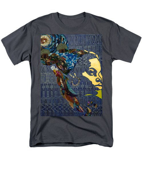 Men's T-Shirt  (Regular Fit) featuring the tapestry - textile Ori Dreams Of Home by Apanaki Temitayo M