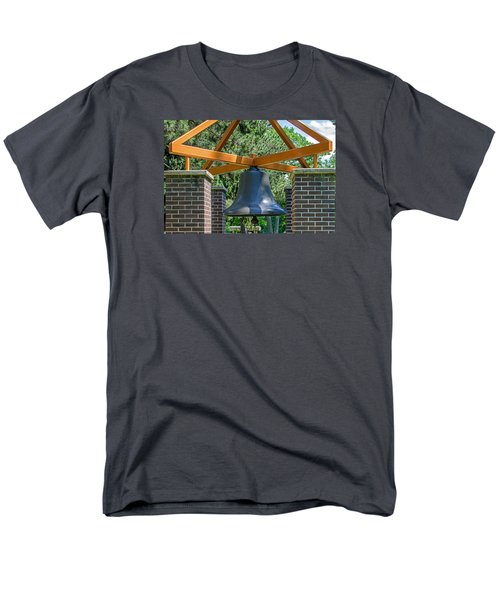 Men's T-Shirt  (Regular Fit) featuring the photograph Original Fire Bell From The Superior Fire Dept In Wisconsin  1892  by Susan  McMenamin