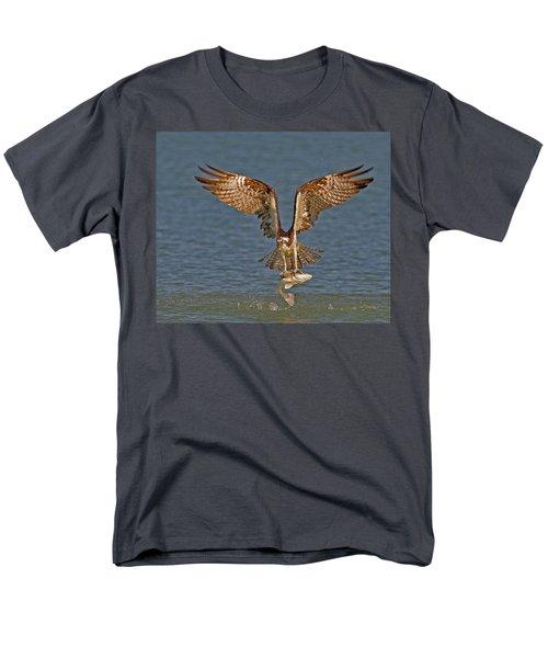Osprey Morning Catch Men's T-Shirt  (Regular Fit) by Susan Candelario
