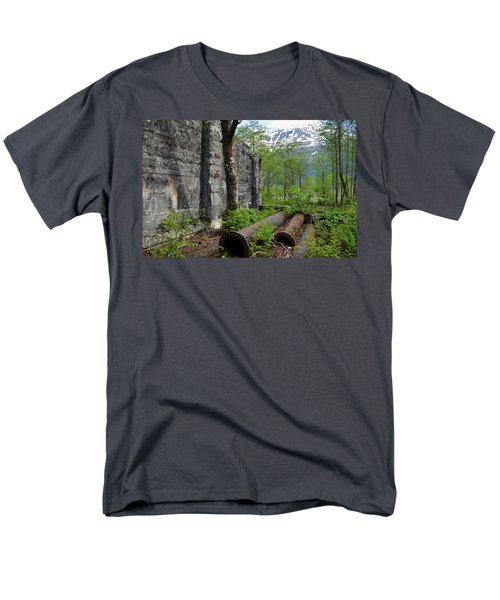 Men's T-Shirt  (Regular Fit) featuring the photograph Out From The Past by Cathy Mahnke