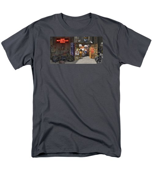 Outside The Motorcycle Shop Men's T-Shirt  (Regular Fit) by Mike McGlothlen