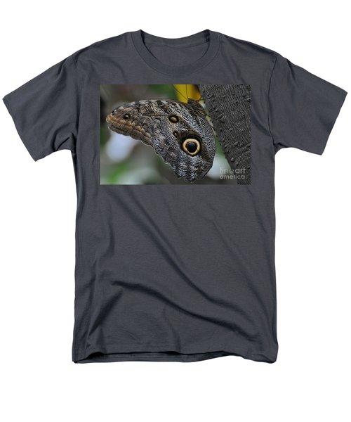 Men's T-Shirt  (Regular Fit) featuring the photograph Owl Butterfly by Bianca Nadeau