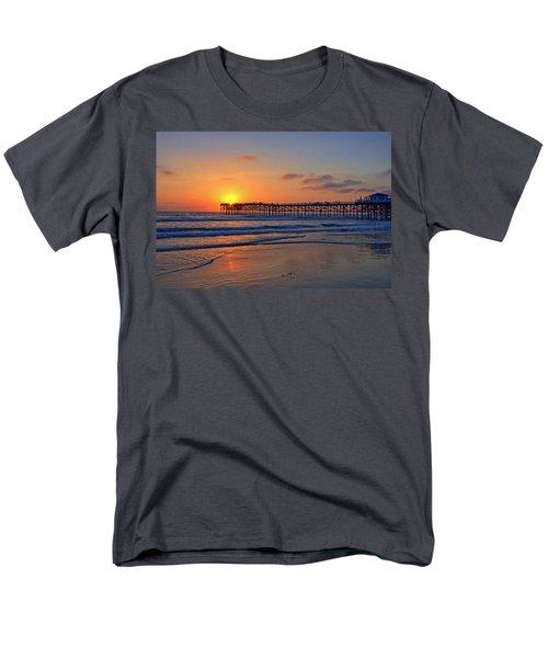 Pacific Beach Pier Sunset Men's T-Shirt  (Regular Fit) by Peter Tellone